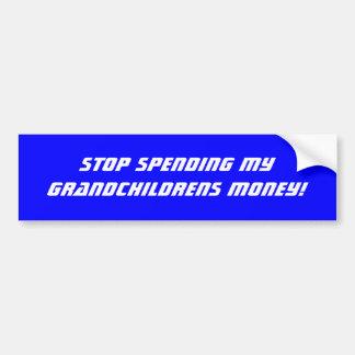 Stop Spending Bumper Sticker