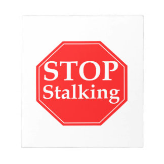 Stop Stalking Notepad