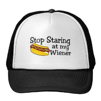 Stop Staring At My Wiener Trucker Hat