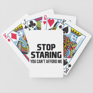Stop Staring Bicycle Playing Cards