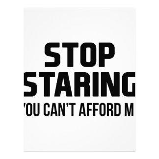 Stop Staring Letterhead