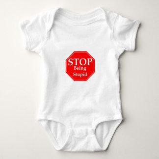 Stop Stupidity Baby Bodysuit
