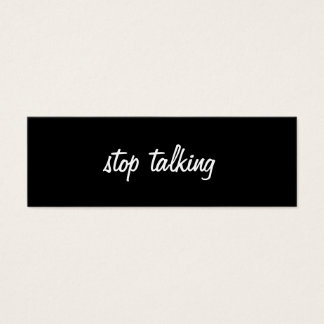 Stop Talking Profile Card