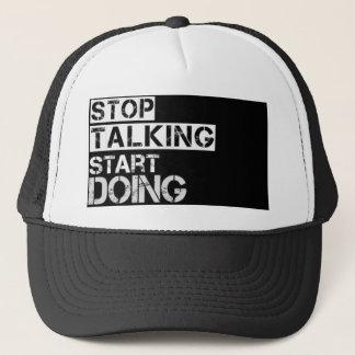 Stop_talking Trucker Hat
