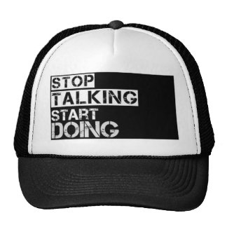 Stop_talking Trucker Hat