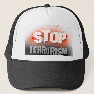 Stop terrorism, hat, for sale ! trucker hat