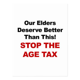 Stop the Age Tax Postcard