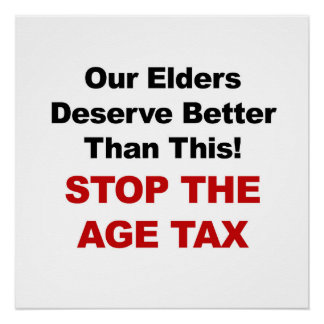 Stop the Age Tax Poster