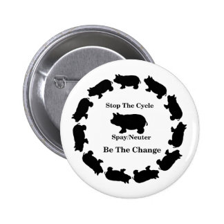Stop The Cycle, Be The Change, Spay/Neuter 2 Inch Round Button