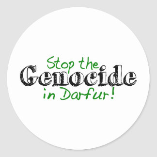 Stop The Genocide Darfur Classic Round Sticker