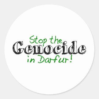 Stop The Genocide Darfur Round Sticker