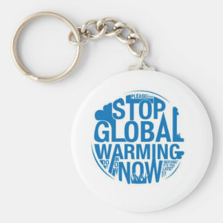 Stop The Global Warming Basic Round Button Keychain