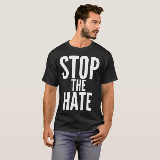 Stop The Hate Text Typography T-Shirt