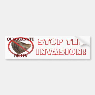 Stop the Invasion Bumper Sticker