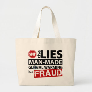 Stop the Lies about Global Warming Canvas Bag