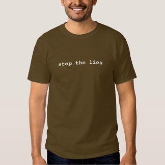 stop the lies tee shirts