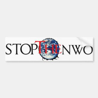 Stop the NWO Bumper Sticker