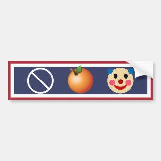 Stop The Orange Clown, Resist Trump! Bumper Sticker