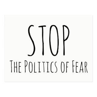 """STOP The Politics of Fear"" Write Your Senator Postcard"
