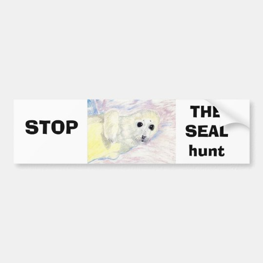 Stop The Seal hunt Bumper Sticker