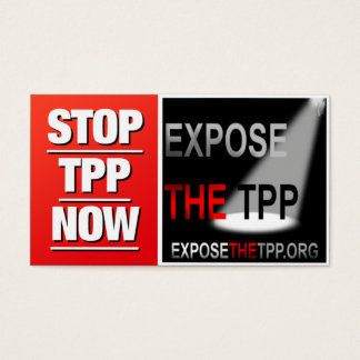 STOP THE TPP business cards