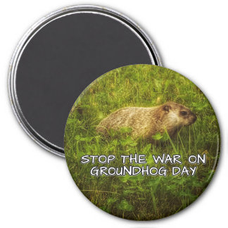 Stop the war on groundhog day magnet