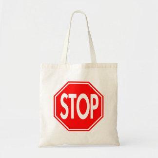 Stop Tote Bags