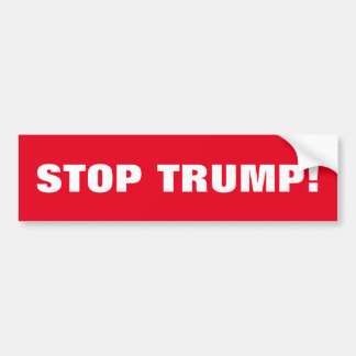 STOP TRUMP BUMPER STICKER