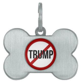 Stop Trump Pet Name Tag