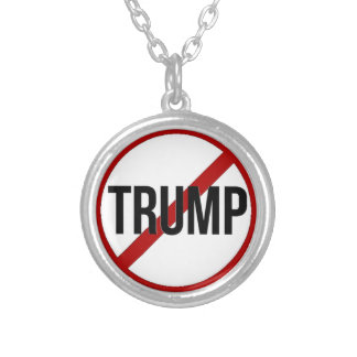 Stop Trump Silver Plated Necklace