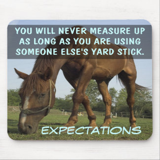 Stop trying to meet other people's expectations mousepad
