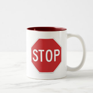 Stop Two-Tone Coffee Mug