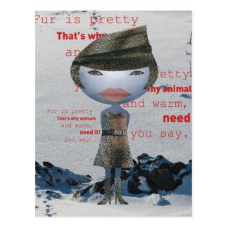 Stop using FUR! Postcard