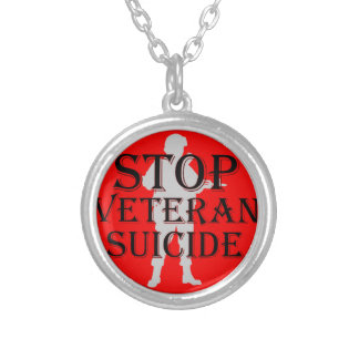Stop Veteran Suicide Silver Plated Necklace