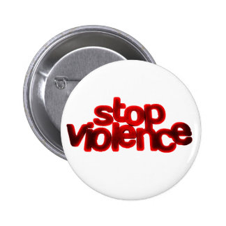 STOP VIOLENCE CAUSES BLOOD RED ABUSE 2 INCH ROUND BUTTON