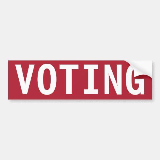 STOP VOTING BUMPER STICKER
