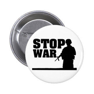 Stop War 2 Inch Round Button