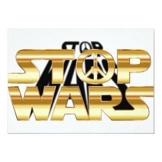 Stop wars card