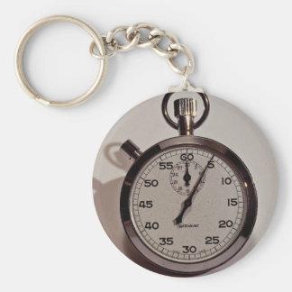 Stop watch keychain