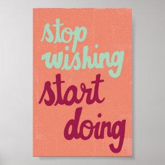 Stop Wishing Poster