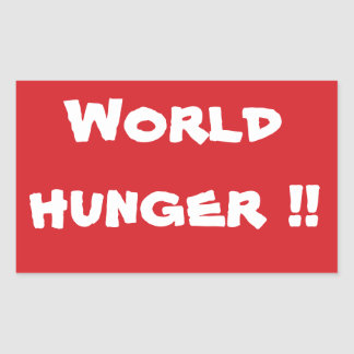 STOP World Hunger Stop Sign Sticker