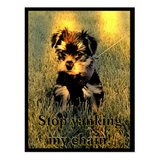 Stop Yanking my chain Customizable Postcard
