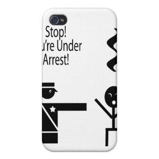 stop youre under arrest music humour 2 iPhone 4/4S case