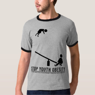Stop Youth Obesity (crisp black print) T-Shirt