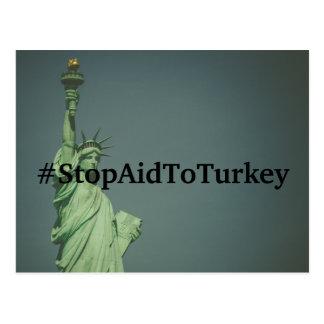 #StopAidToTurkey Postcard