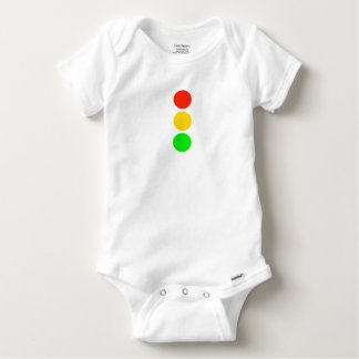 Stoplight Colors Baby Onesie