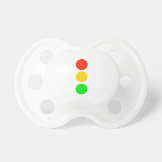 Stoplight Colors Baby Pacifier