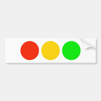 Stoplight Colors Bumper Sticker