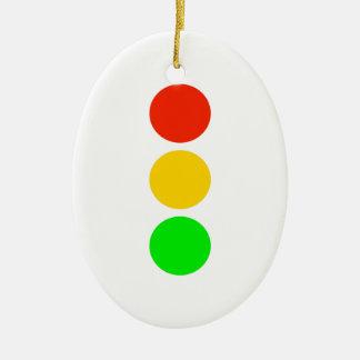 Stoplight Colors Ceramic Ornament