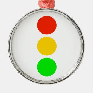 Stoplight Colors Metal Ornament